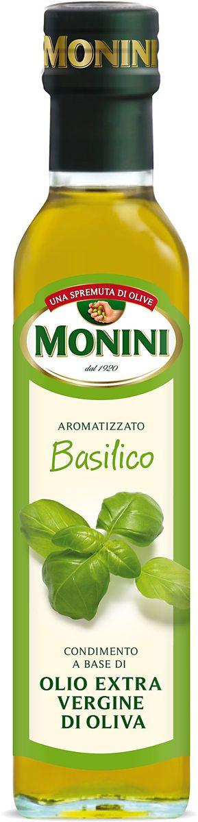 Monini масло оливковое Extra Virgin Базилик, 250 мл