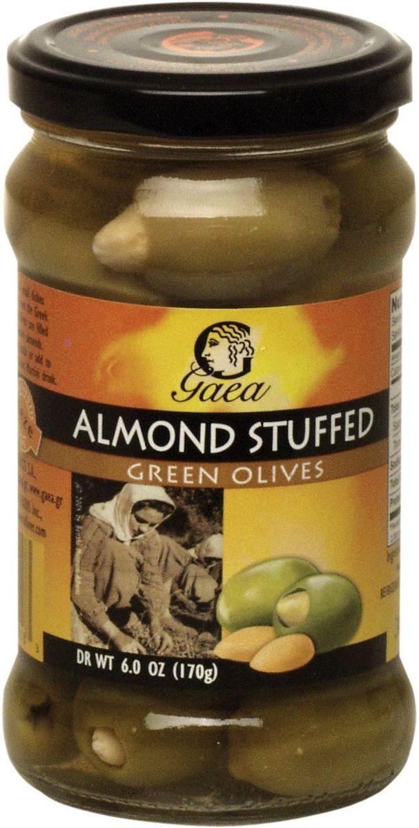 GAEA Оливки зеленые с миндалем, 295 г0370032
