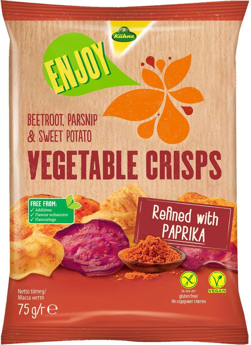 Kuhne Овощные чипсы с паприкой, 75 г0440204