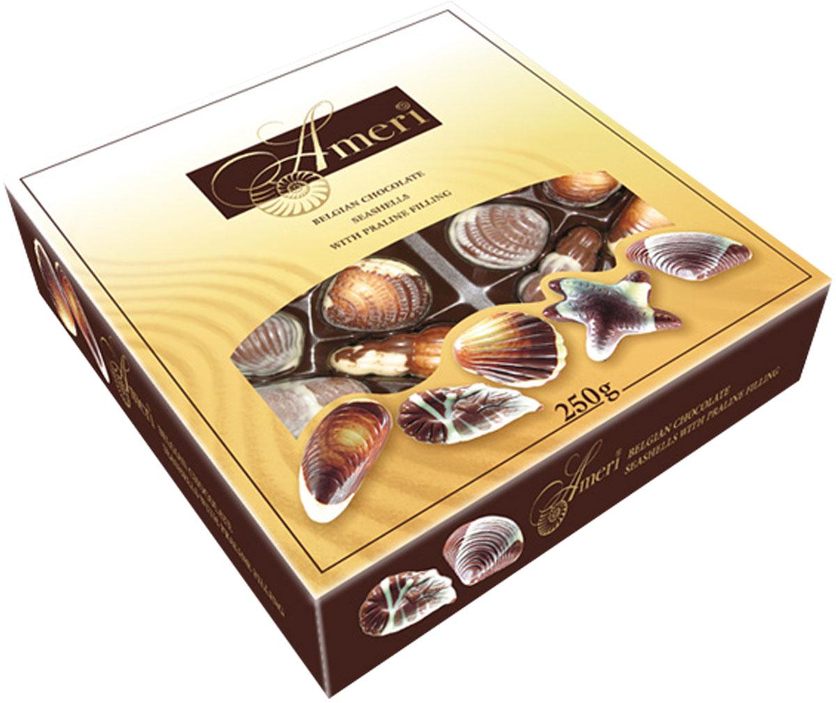 Ameri Шоколадные конфеты-ракушки с начинкой пралине, 250 г 1445005