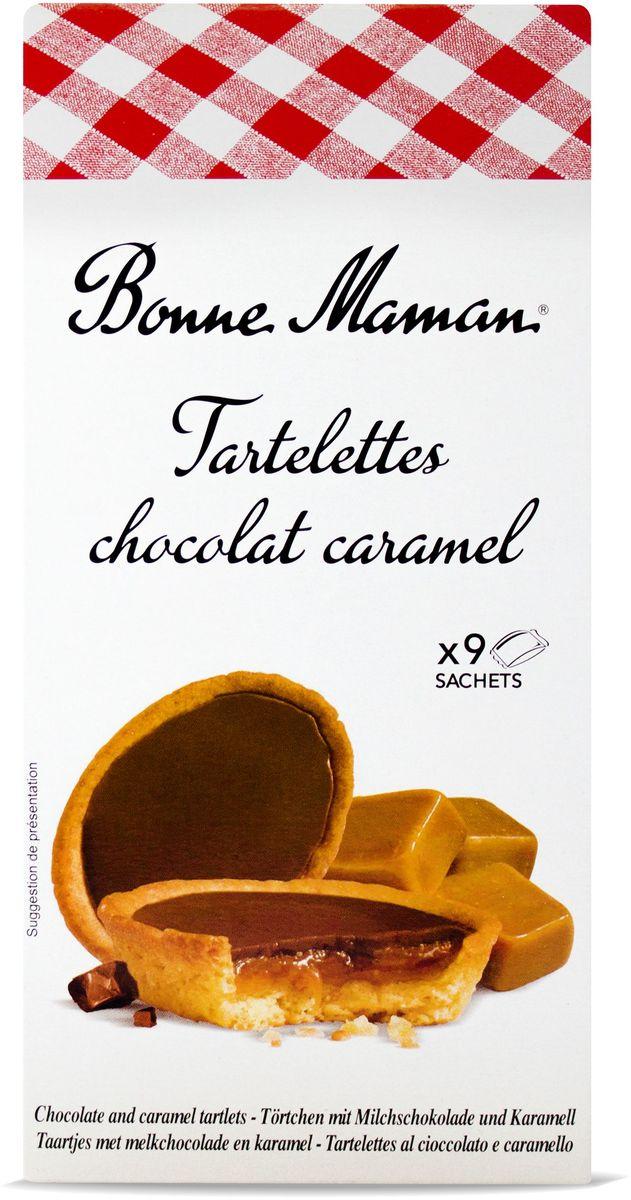 Bonne Maman Tartelettes Сдобное печенье с шоколадно-карамельной начинкой, 135 г 1530203