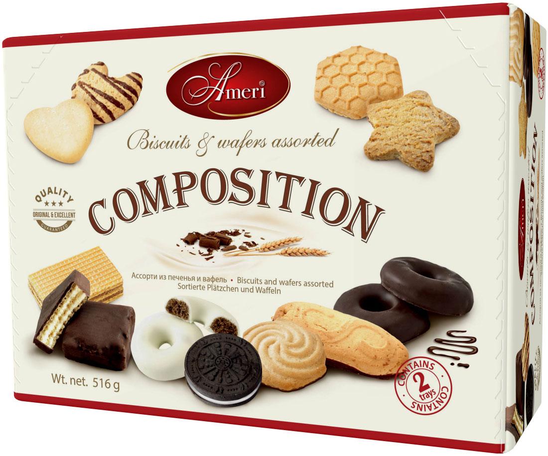 Ameri Composition Ассорти из печенья и вафель, 516 г1540148