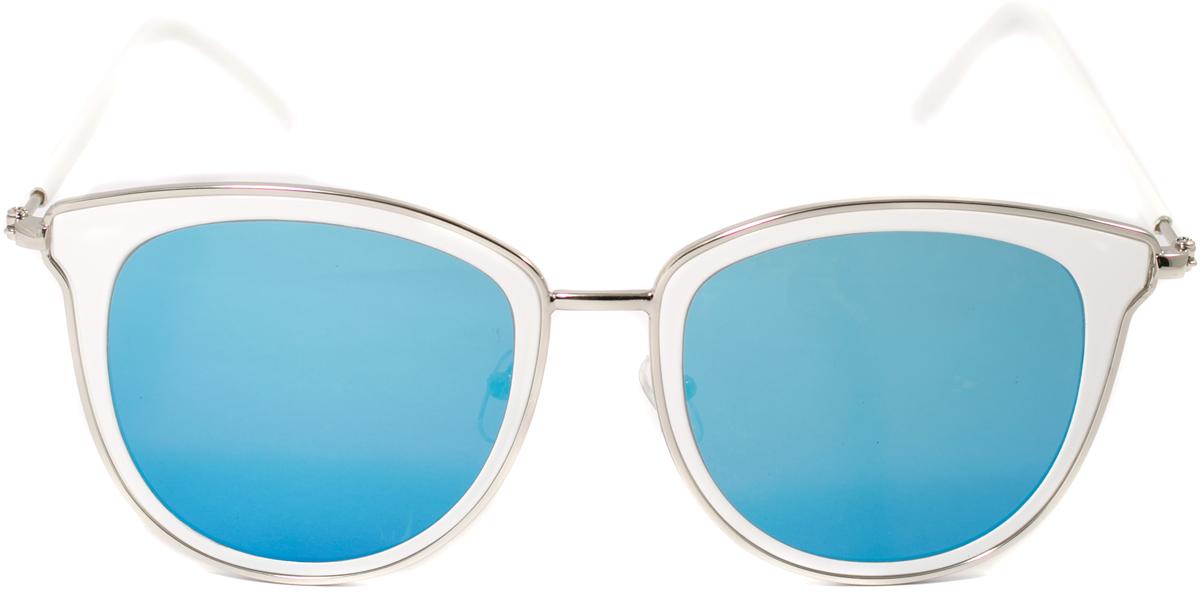Очки солнцезащитные женские Mitya Veselkov, цвет: белый, синий. OS-125OS-125