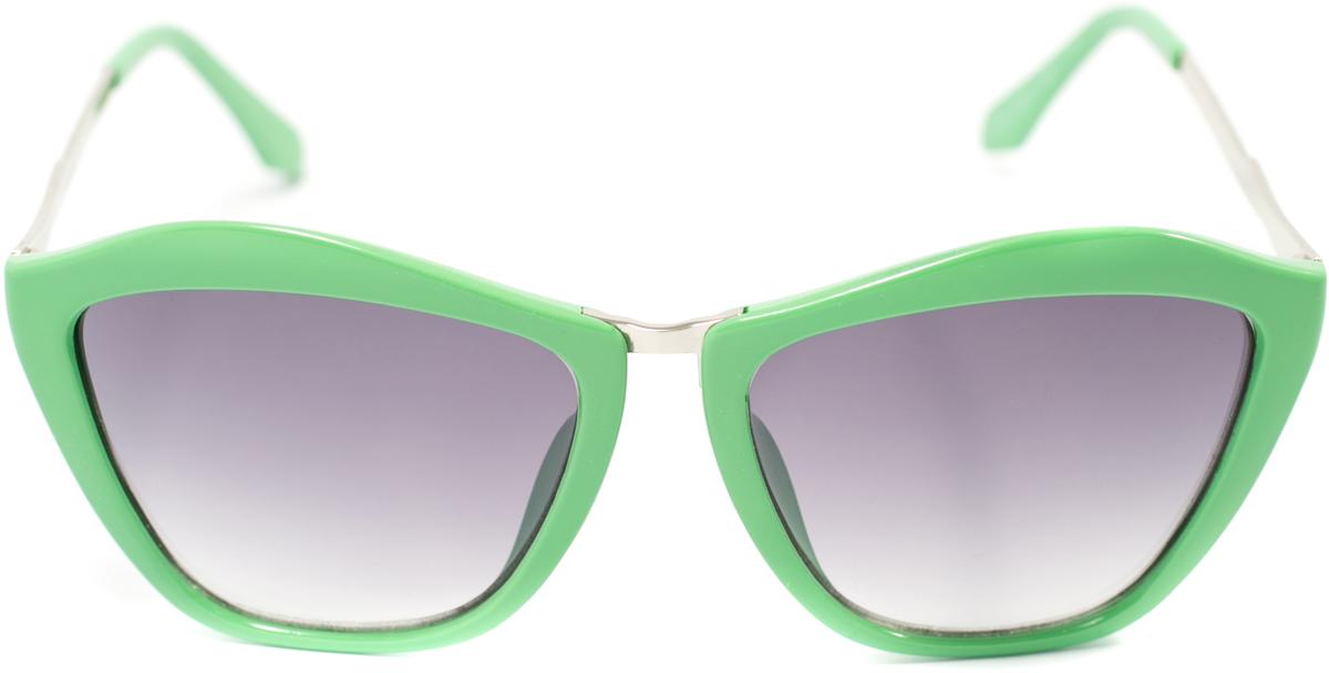 Очки солнцезащитные женские Mitya Veselkov, цвет: зеленый. OS-155OS-155Прекрасные антибликовые очки Mitya Veselkov, станут прекрасным и стильным аксессуаром для вас и защитят от УФ лучей. Они помогут глазу более четко распознать картинку, засвеченную солнечными лучами, при этом скорректируют все возникшие искажения.