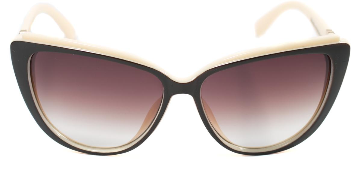 Очки солнцезащитные женские Mitya Veselkov, цвет: коричневый, белый. OS-172OS-172Прекрасные антибликовые очки Mitya Veselkov, станут прекрасным и стильным аксессуаром для вас и защитят от УФ лучей. Они помогут глазу более четко распознать картинку, засвеченную солнечными лучами, при этом скорректируют все возникшие искажения.