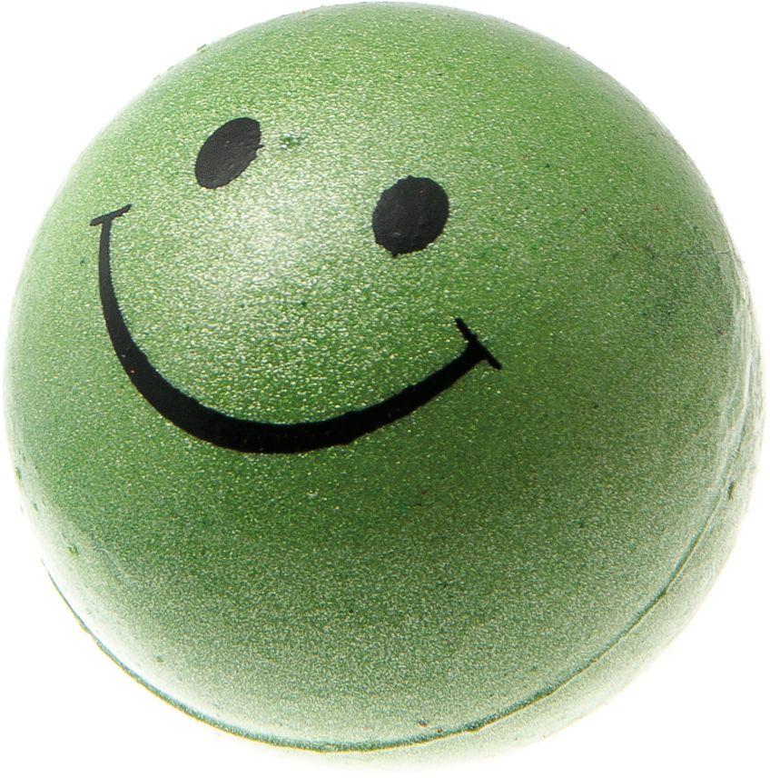 Мяч V.I.Pet Смайлик, цвет: зеленый металлик, 47 мм. 20-110120-1101