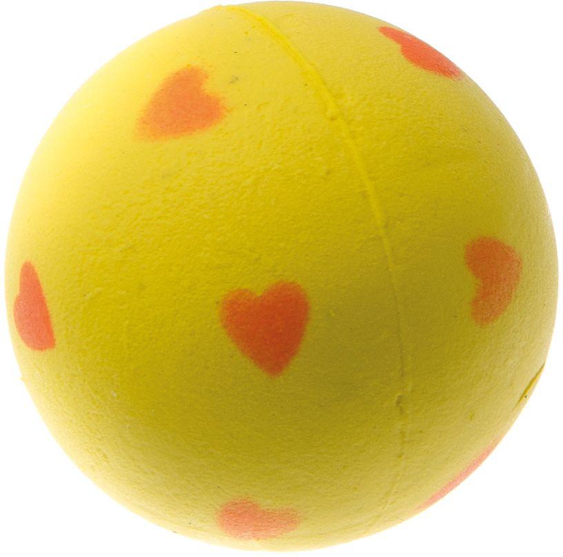 Мяч V.I.Pet Сердечки, цвет: желтый, 47 мм. 20-110620-1106
