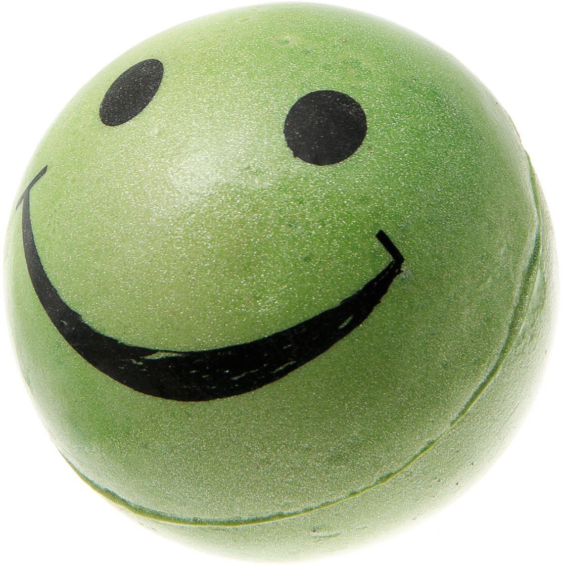 Мяч V.I.Pet Смайлик, цвет: зеленый, 63 мм. 20-111420-1114