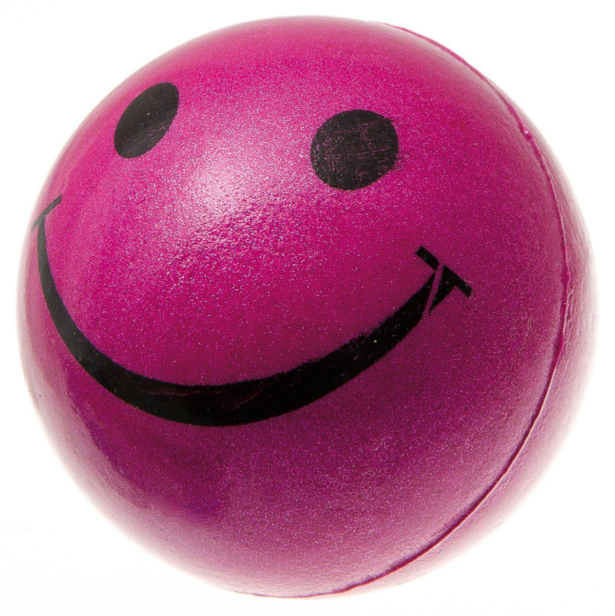 Мяч V.I.Pet Смайлик, цвет: розовый, 63 мм. 20-111520-1115