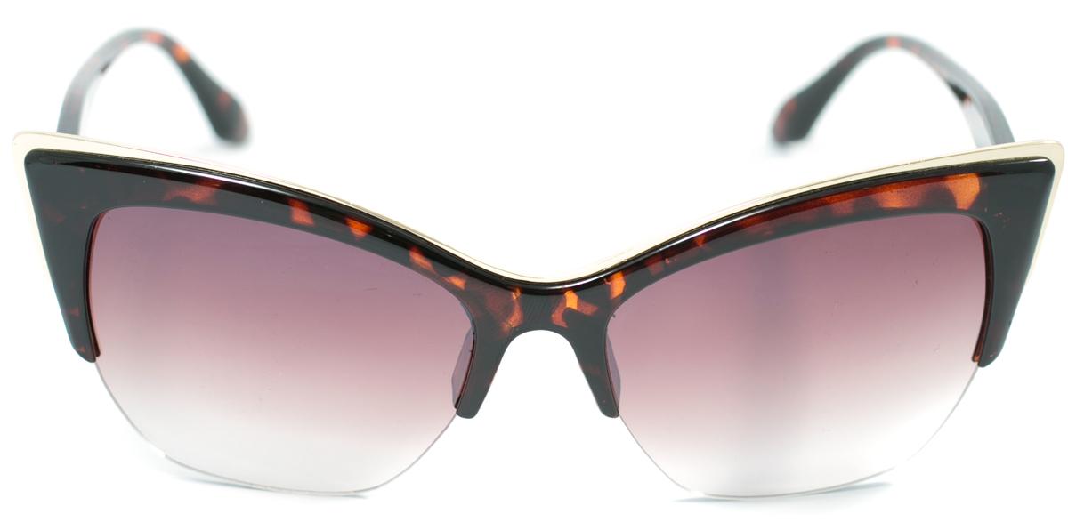 Очки солнцезащитные женские Mitya Veselkov, цвет: коричневый. OS-164OS-164Прекрасные антибликовые очки Mitya Veselkov, станут прекрасным и стильным аксессуаром для вас и защитят от УФ лучей. Они помогут глазу более четко распознать картинку, засвеченную солнечными лучами, при этом скорректируют все возникшие искажения.