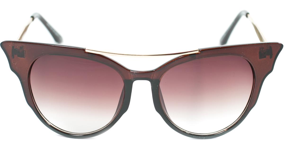 Очки солнцезащитные женские Mitya Veselkov, цвет: коричневый. OS-176OS-176Прекрасные антибликовые очки Mitya Veselkov, станут прекрасным и стильным аксессуаром для вас и защитят от УФ лучей. Они помогут глазу более четко распознать картинку, засвеченную солнечными лучами, при этом скорректируют все возникшие искажения.