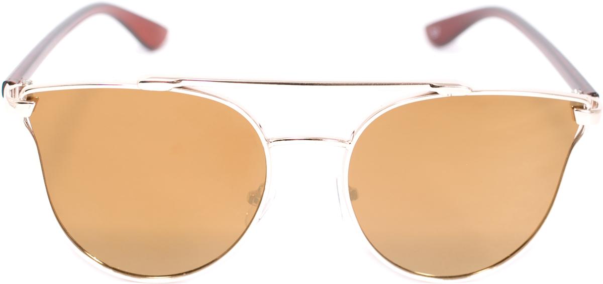 Очки солнцезащитные женские Mitya Veselkov, цвет: коричневый. OS-226OS-226Прекрасные антибликовые очки Mitya Veselkov, станут прекрасным и стильным аксессуаром для вас и защитят от УФ лучей. Они помогут глазу более четко распознать картинку, засвеченную солнечными лучами, при этом скорректируют все возникшие искажения.