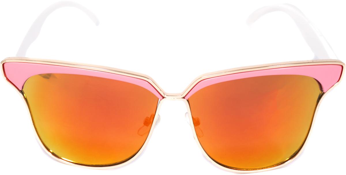 Очки солнцезащитные женские Mitya Veselkov, цвет: розовый. OS-234OS-234Прекрасные антибликовые очки Mitya Veselkov, станут прекрасным и стильным аксессуаром и защитят от УФ лучей. Они помогут глазу более четко распознать картинку, засвеченную солнечными лучами, при этом скорректируют все возникшие искажения.