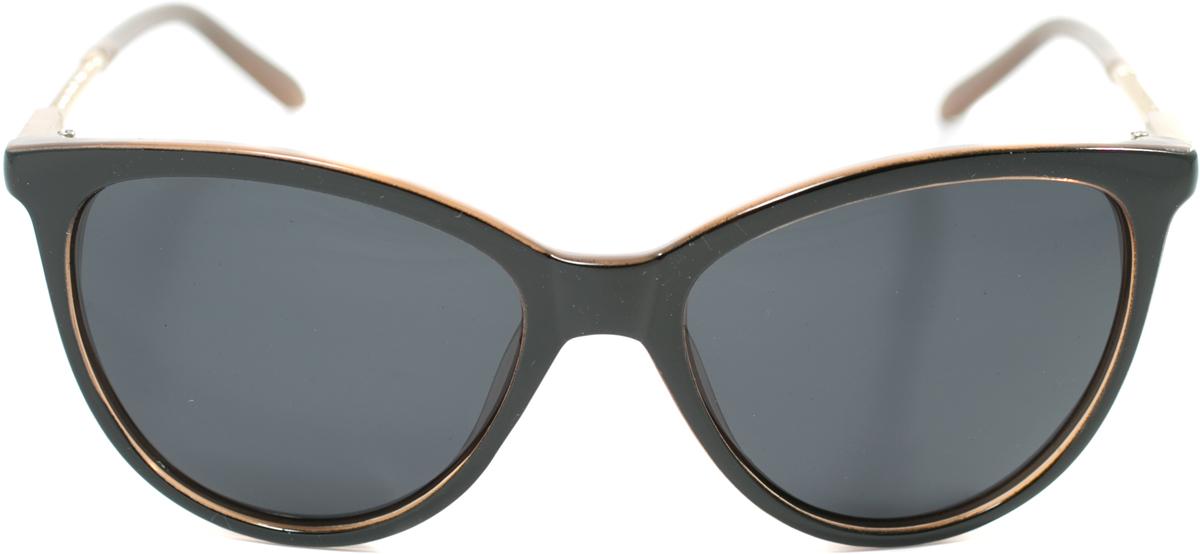 Очки солнцезащитные женские Mitya Veselkov, цвет: черный, коричневый. OS-174OS-174Прекрасные антибликовые очки Mitya Veselkov, станут прекрасным и стильным аксессуаром для вас и защитят от УФ лучей. Они помогут глазу более четко распознать картинку, засвеченную солнечными лучами, при этом скорректируют все возникшие искажения.