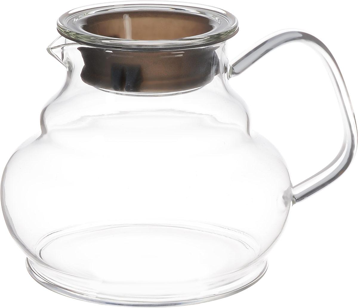 Чайник заварочный Hunan Provincial Мори, 900 мл15050Заварочный чайник Hunan Provincial Мори изготовлен из стекла. Этот чайник радует глаз своей оригинальной формой. Удобная ручка позволяет крепко держать чайник в руке. Крышка с силиконовой вставкой уберегает от ожогов. Диаметр чайника (по верхнему краю): 7,5 см. Высота чайника (без крышки): 11 см.
