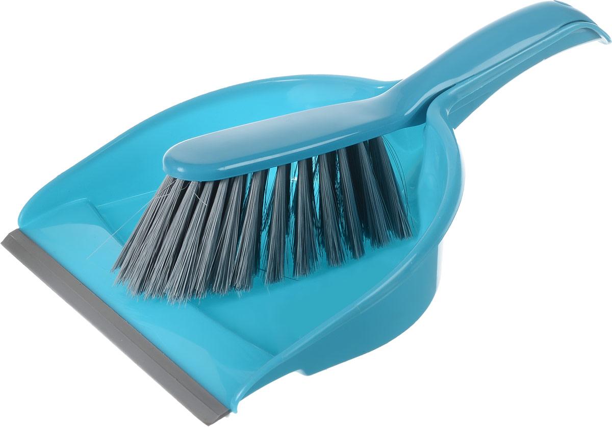 Набор для уборки York Компакт, цвет: бирюзовый, серый, 2 предмета6205_бирюзовыйНабор для уборки York Компакт состоит из совка и щетки-сметки, изготовленных из высококачественного полипропилена. Вместительный совок удерживает собранный мусор, позволяет эффективно и быстро совершать уборку в любом помещении. Прорезиненный край совка обеспечивает наиболее плотное прилегание к полу. Щетка-сметка с жестким ворсом из высококачественного полимера имеет удобную форму, позволяет вымести мусор даже из труднодоступных мест. Совок и щетка-сметка оснащены ручками с отверстиями для подвешивания. С набором York Компакт уборка станет легче и приятнее. Общая длина щетки-сметки: 30 см. Длина ворса щетки-сметки: 6,5 см. Длина совка: 33,5 см. Ширина совка: 22 см.