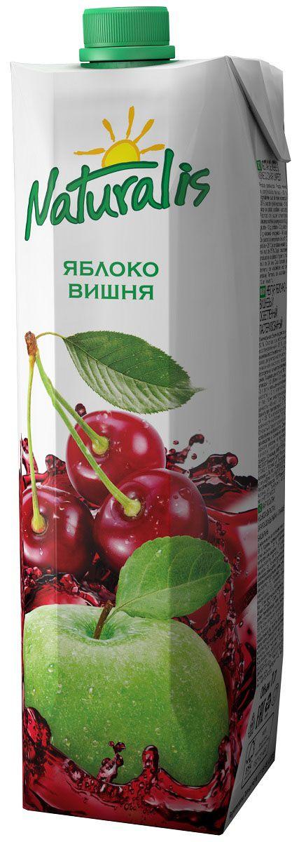 Naturalis нектар яблочно-вишневый осветленный, 1 лВГС_127Яблочно-вишневый нектар Naturalis понравится вам своей сбалансированностью. Классический яблочный нектар в сочетании с кислинкой вишни становится более полным и сбалансированным. Большое содержание витаминов группы B в вишне вместе с железом, медью и магнием дают замечательный эффект при малокровии и заболеваниях, связанных с системой кроветворения. Без ароматизаторов, красителей и консервантов.