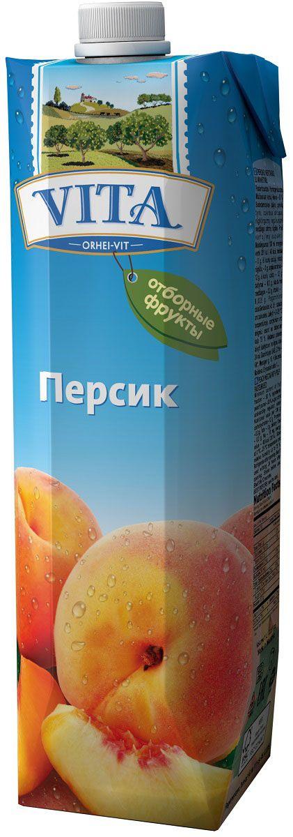 Vita нектар из персиков с мякотью, 1 л ВГС_63