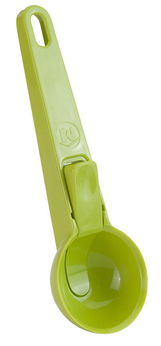 Ложка для мороженного Metaltex Igloo, длина 19,5 см25.34.00-534Ложка для мороженного Metaltex IGLOO изготовлена из пищевого пластика. Она предназначена для формирования шариков из мороженного или других полутвердых десертов. Удобная рукоятка ложки не позволит выскользнуть ей из вашей руки. Такой ложкой удобно есть и раскладывать мороженное. На ручке имеется небольшое отверстие, за которое изделие можно подвесить в любом удобном для вас месте. Практичная и удобная ложка Metaltex займет достойное место среди аксессуаров на вашей кухне.