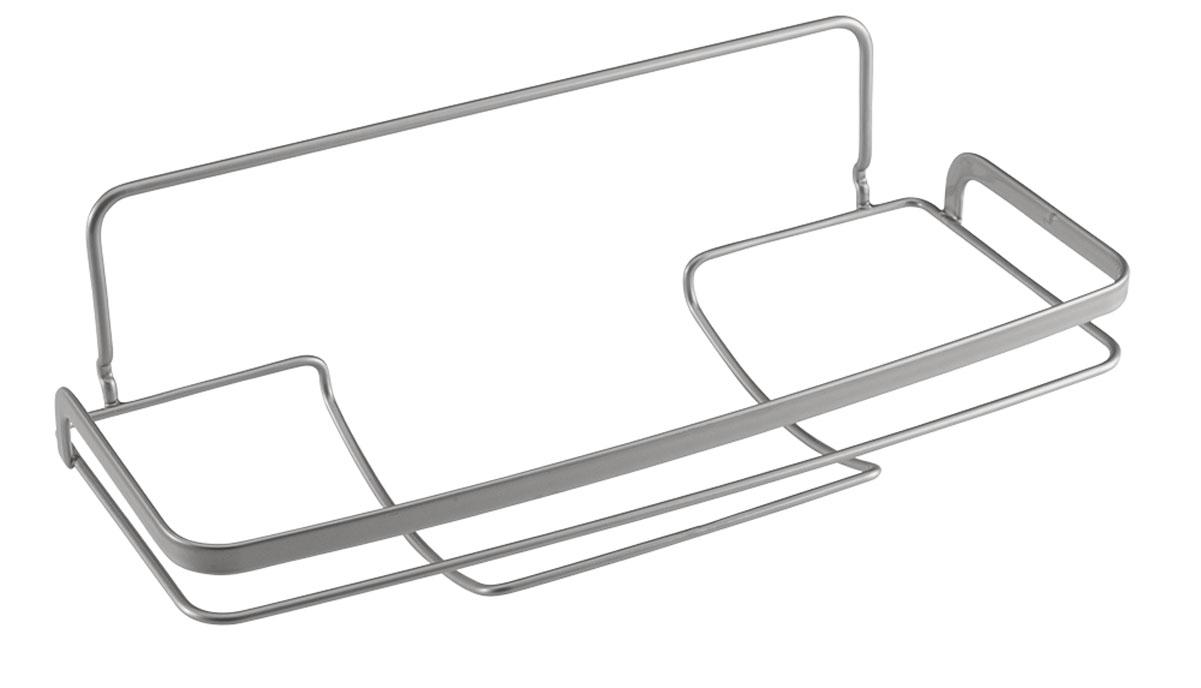 Держатель для бумажных полотенец Metaltex Eureka!, 33 х 15 х 11 см35.04.20Держатель Metaltex Eureka! предназначен для хранения и удобного использования бумажных полотенец. Он выполнен из высококачественной стали со специальным политермическим покрытием серебристого цвета Polyterm. Благодаря компактным размерам держатель для бумажного полотенца впишется в интерьер вашей кухни. Крепится держатель с помощью дополнительного крепления не прибегая к сверлению.