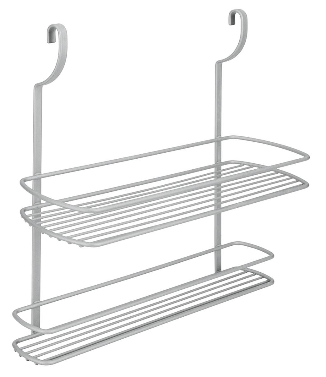 Полка навесная Metaltex City, двухъярусная, 35 х 13 х 38 см35.07.12Навесная двухэтажная полка Metaltex City изготовлена из стали и покрыта новым полимерным покрытием Frost Polytherm. Такая полка не только экономит место на вашей кухне, но и обеспечивает наглядность, порядок и удобный доступ к кухонным принадлежностям. Современный дизайн делает ее практичным и стильным домашним аксессуаром. Она пригодится для хранения различных кухонных или других принадлежностей, которые всегда будут под рукой. Полка устанавливается на рейлинг с помощь двух крючков.Гарантия производителя на покрытие составляе 3 года.
