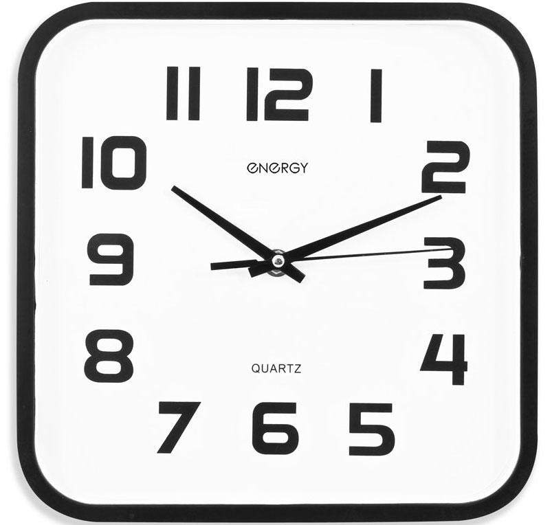 Energy ЕС-08 Квадратные настенные часы54 009308Настенные кварцевые часы с плавным ходом Energy ЕС-08 имеют классический строгий дизайн и поэтому подойдут как для дома, так и для офиса. Крупные цифры черного цвета отлично различимы в условиях плохого освещения. Питание осуществляется от 1 батарейки типа АА (в комплект не входит).