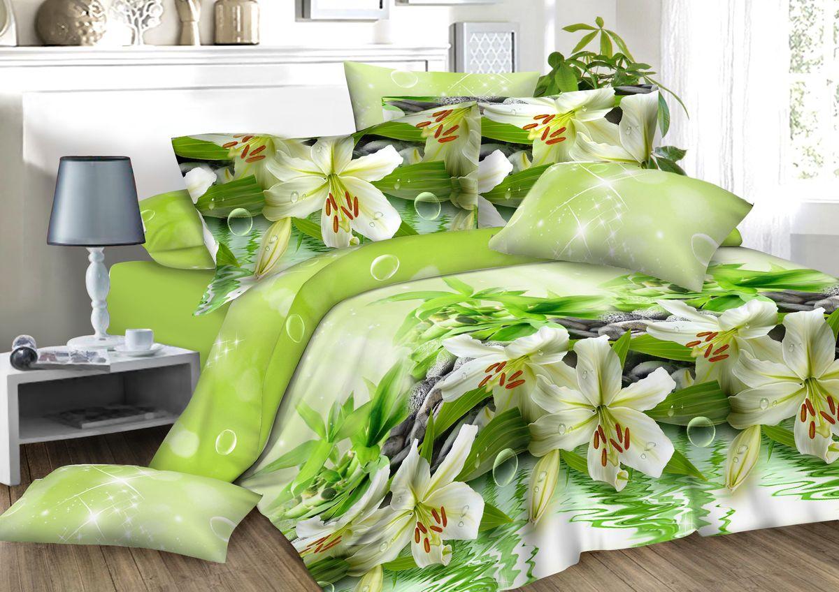 Комплект белья Amore Mio Lilly, 2-спальный, наволочки 70x7082911Комплект постельного белья Amore Mio является экологически безопасным для всей семьи, так как выполнен из сатина (100% хлопок). Постельное белье оформлено оригинальным рисунком и имеет изысканный внешний вид. Сатин - это ткань сатинового (атласного) переплетения нитей. Имеет гладкую, шелковистую лицевую поверхность, на которой преобладают уточные нити (уток - горизонтально расположенные в тканом полотне нити). Сатин изготавливается из крученой хлопковой нити двойного плетения. Он чрезвычайно приятен на ощупь, не электризуется и не скользит по кровати. Сатин прекрасно сохраняет форму и не мнется, отлично пропускает воздух, что позволяет телу дышать и дарит здоровый и комфортный сон. Комплект состоит из пододеяльника, простыни и двух наволочек.