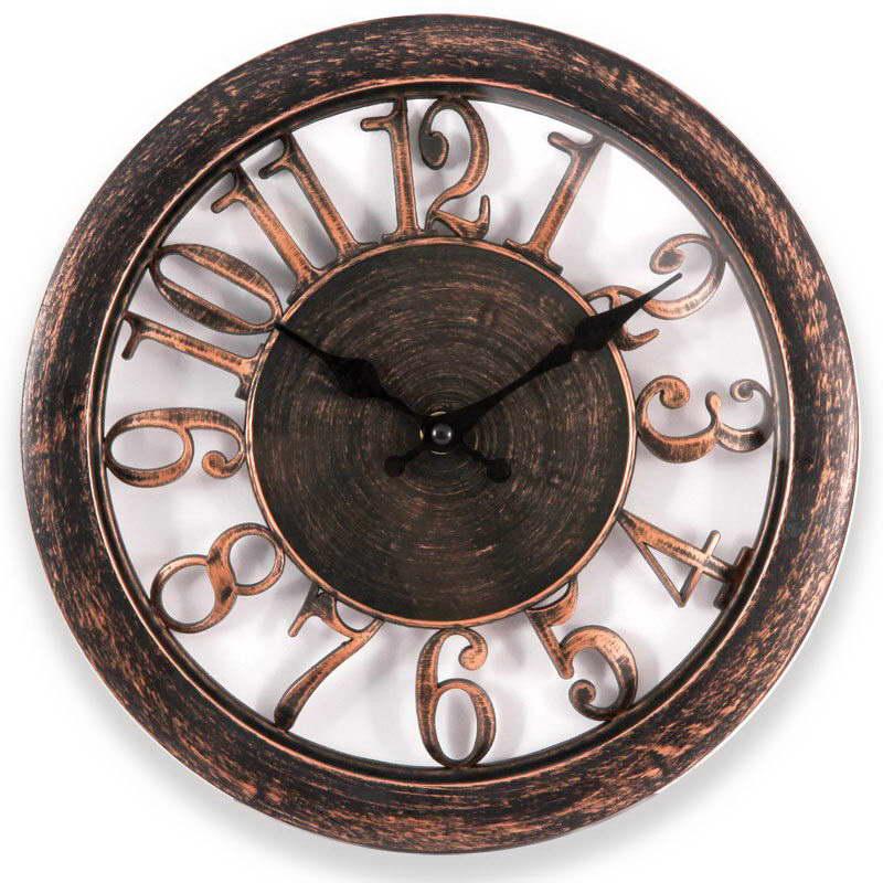 Engy ЕС-16 Круглые настенные часы54 009316Настенные кварцевые часы с плавным ходом Engy ЕС-16 имеют яркий оригинальный дизайн и поэтому подойдут для вашего дома или офиса, декорированного в подобном стиле. Крупные цифры коричневого цвета на прозрачном фоне отлично различимы даже в условиях плохого освещения. Питание осуществляется от 1 батарейки типа АА (в комплект не входит).