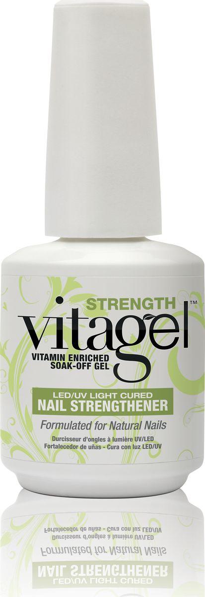 VitaGel Strenght Средство для защиты натуральных ногтей, 15 мл01150Используется как укрепляющее средство для натуральных ногтей. Подходит людям с ослабленными ногтями, нуждающимися в дополнительном питании и укреплении. После 3-4 раз использования VitaGel ПРОЧНОСТЬ состояние натуральных ногтей заметно улучшается, они становятся ощутимо крепче. Стимулирует быстрый рост ногтей, при этом позволяет удерживать молекулы витаминов А, Е и В5 на срок до 14 дней для непрерывного высвобождения питательных веществ в ногтевую пластину.