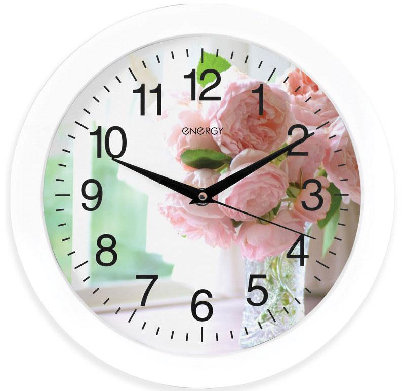 Energy ЕС-96 Цветы настенные часы