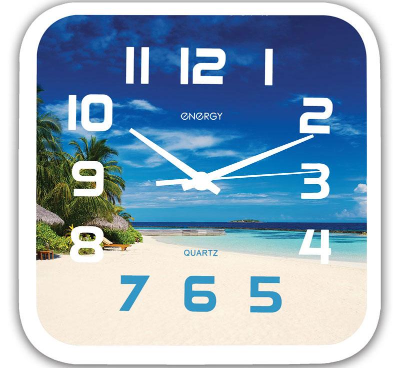Energy ЕС-99 Пляж настенные часы