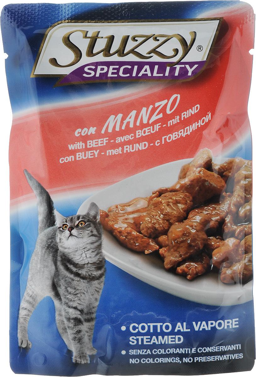 Консервы Stuzzy Speciality, для взрослых кошек, с говядиной, 100 г131.2502Консервы Stuzzy Speciality - это корм для взрослых кошек, который отличается большой натуральностью. В консервах есть все, что нужно вашей кошке: питательные вещества, минералы, витамины. Корм обогащены таурином и витамином Е для поддержания правильной работы сердца и иммунной системы. А также инулином, способствующим всасыванию питательных веществ, и биотином, делающим шерсть блестящей и шелковистой и поддерживающим здоровое состояние кожных покровов. Консервы имеют аппетитный вид, удивительный аромат и приятный вкус, который понравится питомцу! Товар сертифицирован.