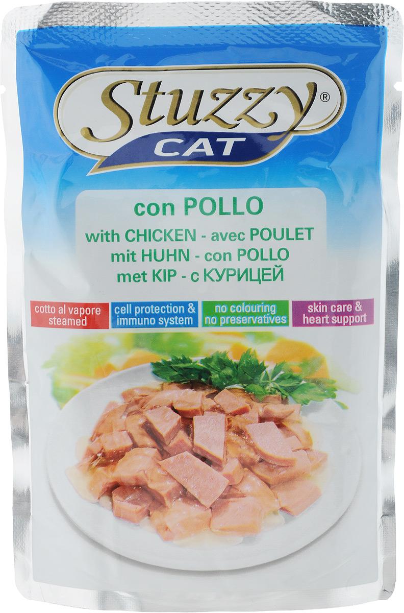 Консервы Stuzzy Cat, для взрослых кошек, с курицей, 100 г132.C2401Консервы Stuzzy Cat - это корм для взрослых кошек, который отличается естественностью. В консервах есть все, что нужно вашей кошке: питательные вещества, минералы, витамины. Консервы Stuzzy это аппетитные вкусы без усилителей, красителей и консервантов. Корм обогащен таурином и витамином Е для поддержания правильной работы сердца и иммунной системы. А также инулином, способствующим всасыванию питательных веществ и биотином, делающим шерсть блестящей и шелковистой и поддерживающим здоровое состояние кожных покровов. Консервы имеют аппетитный вид, удивительный аромат и приятный вкус, который понравится питомцу! Товар сертифицирован.