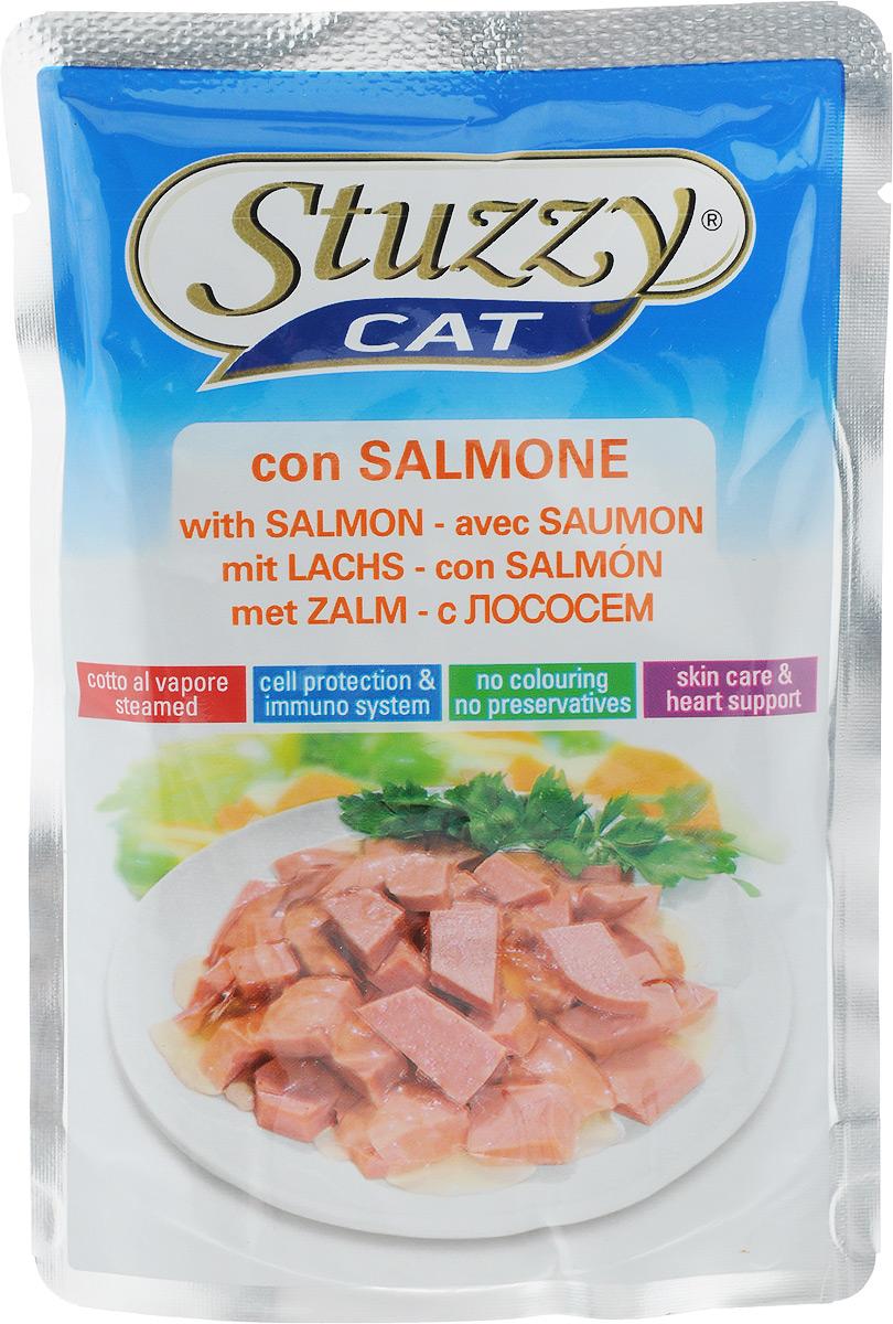 Консервы Stuzzy Сat , для взрослых кошек, с лососем, 100 г132.C2406Консервы Stuzzy cat con SALMONE - это корм для взрослых кошек, который отличается естественностью. В консервах есть все, что нужно вашей кошке: питательные вещества, минералы, витамины. Состав: мясо и мясопродукты, рыба и рыбопродукты (из них лосося 4%),продукты растительного происхождения, (из них инулина 0,4%), минералы. Добавки/кг: пищевые добавки: витамин D3 200 y.e., витамин Е (Альфа-токоферол) 100 мг, биотин 100 мг, таурин 100 мг, моногидрат сульфата цинка (Zn 5 мг), пентагидрат сульфата меди (Cu 4 мг), моногидрат сульфата марганца (Mn 1.5 мг), йодид калия (I 0,5 мг). Пищевая ценность: протеины - 7,5%, сырой жир - 4%, сырая зола - 1,5%, сырая клетчатка - 0,3%, влажность - 82%. Вес: 100 г. Товар сертифицирован.