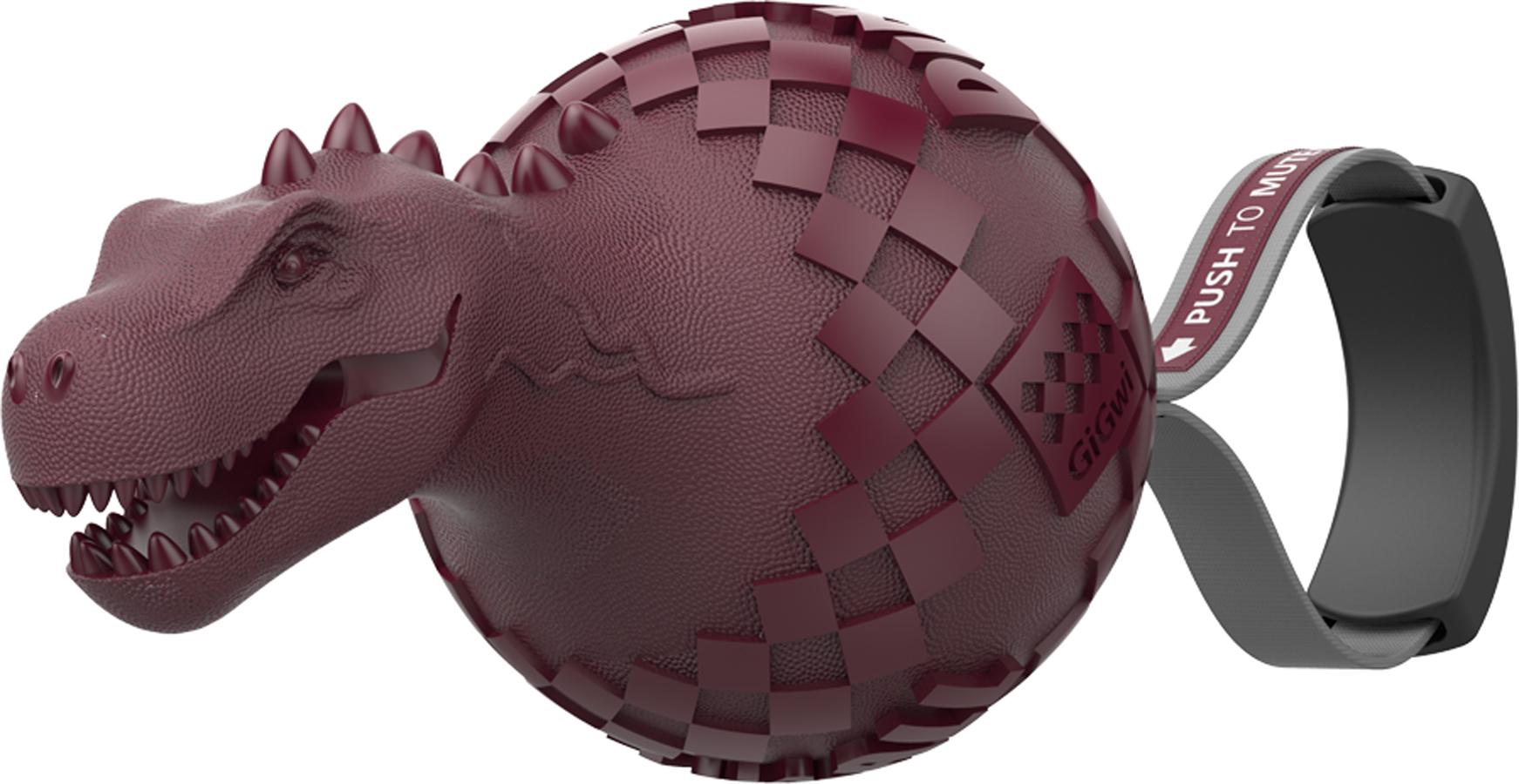 Игрушка для собак GiGwi Динобол Т-рекс, с отключаемой пищалкой75393