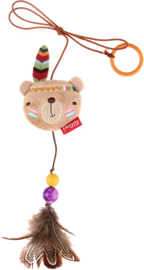 Игрушка для кошек GiGwi Дразнилка на палец. Медведь75408
