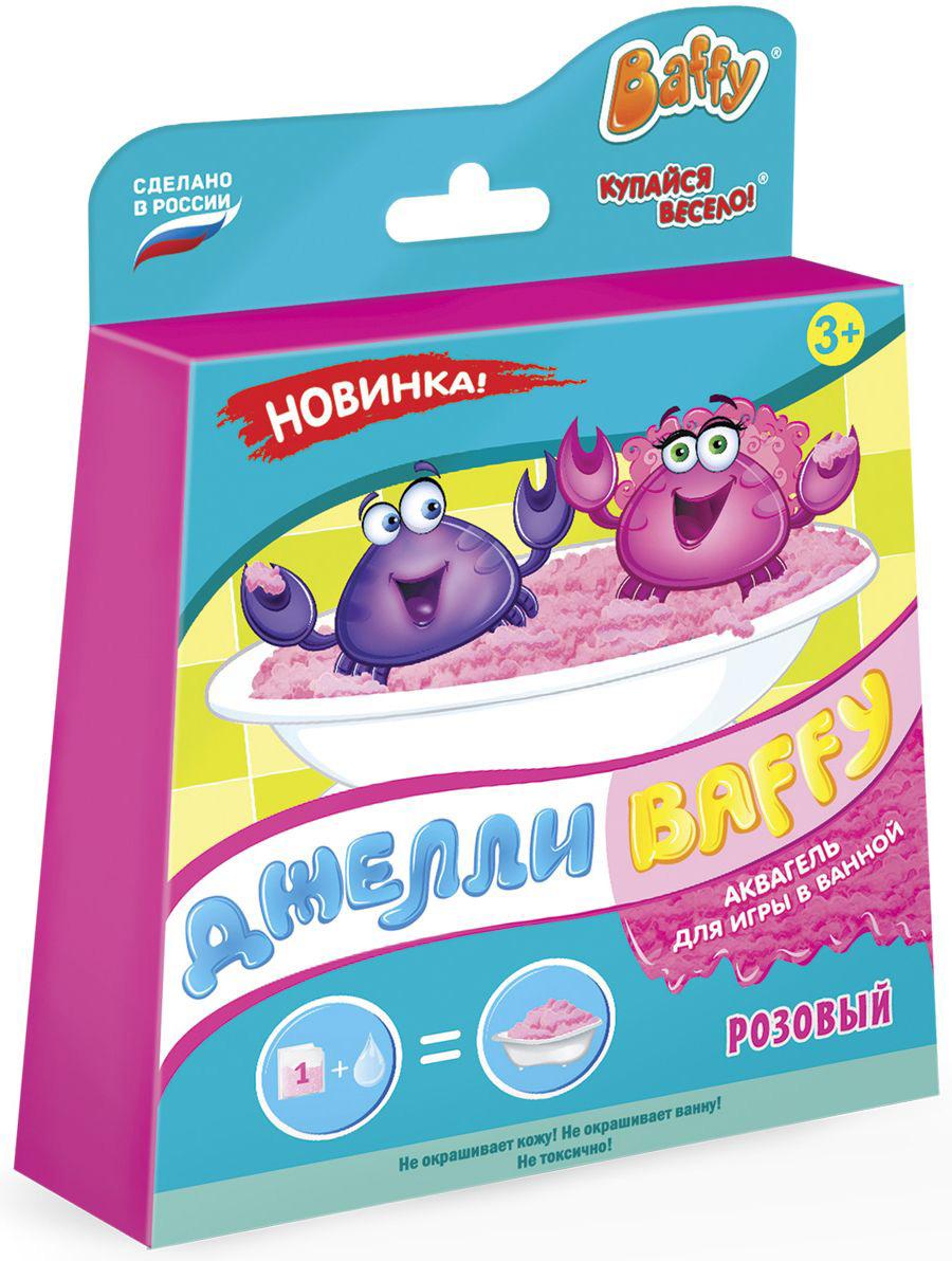Baffy Набор средств для купания Джелли цвет розовыйD0120Купание превратится в интересную увлекательную игру с помощью аквагеля. Развивайте мелкую моторику у ребенка даже во время принятия ванны! Наблюдайте за волшебством: вода легко превращается в желе и обратно! КОМПЛЕКТАЦИЯ: ШАГ 1: D0121 Аквагель для ванны (голубой, зеленый, розовый, оранжевый, фиолетовый) – 1 шт. (165 гр.); Состав: полиакрилат натрия, каррагинан, ароматизатор пищевой, краситель пищевой, экстракт ромашки. ШАГ 2: D0122 Cоль – 1 шт. (185 гр.) Состав: хлорид натрия.