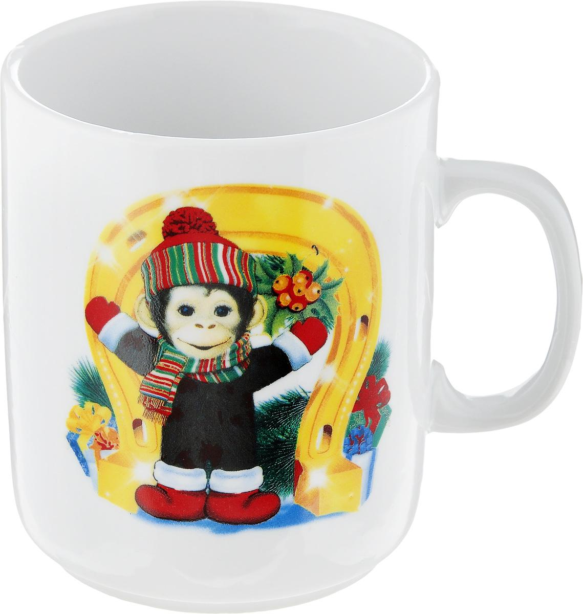 Кружка Фарфор Вербилок Обезьянка с подковкой. 77942807794280Красивая фарфоровая кружка способна скрасить любое чаепитие. Посуда из такого материала позволяет сохранить истинный вкус напитка, а также помогает ему дольше оставаться теплым.