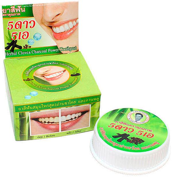 5 Star Cosmetic травяная отбеливающая зубная паста с углем Бамбука5737453Уголь Бамбука удаляет с эмали пятна от кофе, чая, сигарет и даже лекарств, а также поглощает бактерии, нейтрализуя неприятный запах изо рта. Активированный бамбуковый уголь впитывает и удаляет кислый налет, тем самым повышая PH ротовой полости. Эффективно также применение угля для облегчения зубной боли, для ускорения заживления язв, при абсцессах и воспалениях десен. Очень экономична. Не содержит консервантов, фтор и его производных.