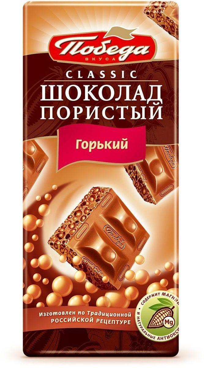 Победа вкуса шоколад пористый горький, 65 г