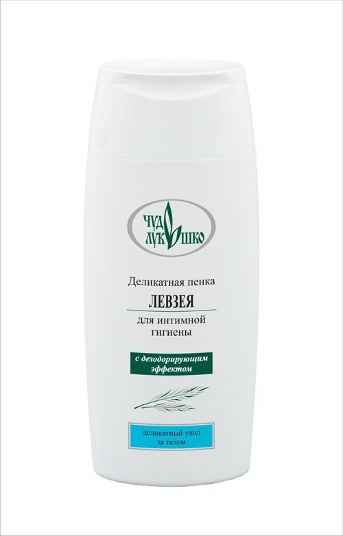 Чудо Лукошко Деликатная пенка для интимной гигиены Левзея С дезодорирующим эффектом, 220 мл110301Деликатное и эффективное средство ухода за телом. Не содержит щелочных компонентов. Мягкая моющая основа бережно и полноценно очищает и успокаивает кожу, поддерживает оптимальный pH баланс, дезодорирует, интенсивно увлажняет, надолго сохраняет ощущение чистоты, свежести и комфорта. Левзея тонизирует и восстанавливает кожу, активизирует водно-солевой и кислородный обмен в клетках. Эфирное масло и экстракт апельсина это сильные увлажнители, предупреждают сухость, успокаивают кожу. Пенка усиливает сопротивляемость внешним раздражителям, прекрасно пенится, легко смывается, обеспечивает полноценный уход.