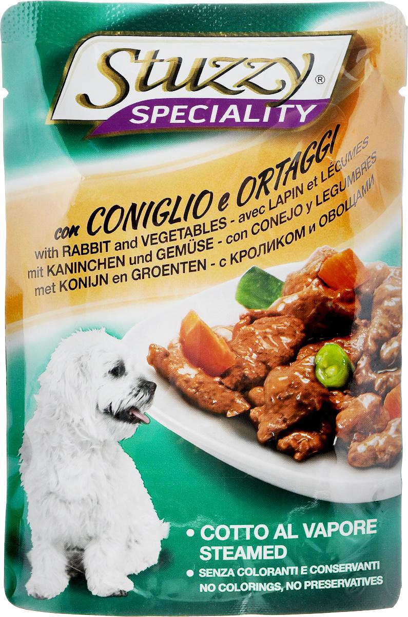 Консервы для собак Stuzzy Speciality, с кроликом и овощами, 100 г131.2571Stuzzy Speciality - это полнорационный корм для взрослых собак. Корм обогащен таурином и витамином Е для поддержания правильной работы сердца и иммунной системы. Инулин способствует всасыванию питательных веществ, а биотин, делает шерсть блестящей и шелковистой, и поддерживает здоровое состояние кожных покровов. Корм приготовлен на пару, не содержит усилителей вкуса, красителей и консервантов. Товар сертифицирован.