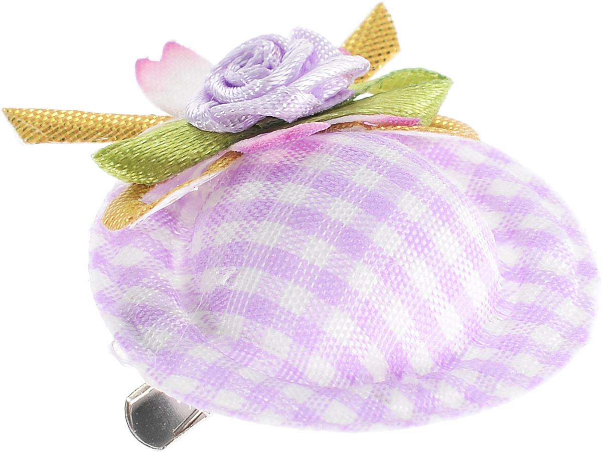 Заколка-шляпка для собак VIPet Ностальжи, цвет: сиреневый, диаметр 3,5 см18107Заколка-шляпка VIPet Ностальжи - это красивое и стильное украшение для собак. Заколка прекрасно крепится на волосах и позволяет фиксировать шерсть. Выполнена из стали, пластика и тканей различных структур, плотностей и фактур.