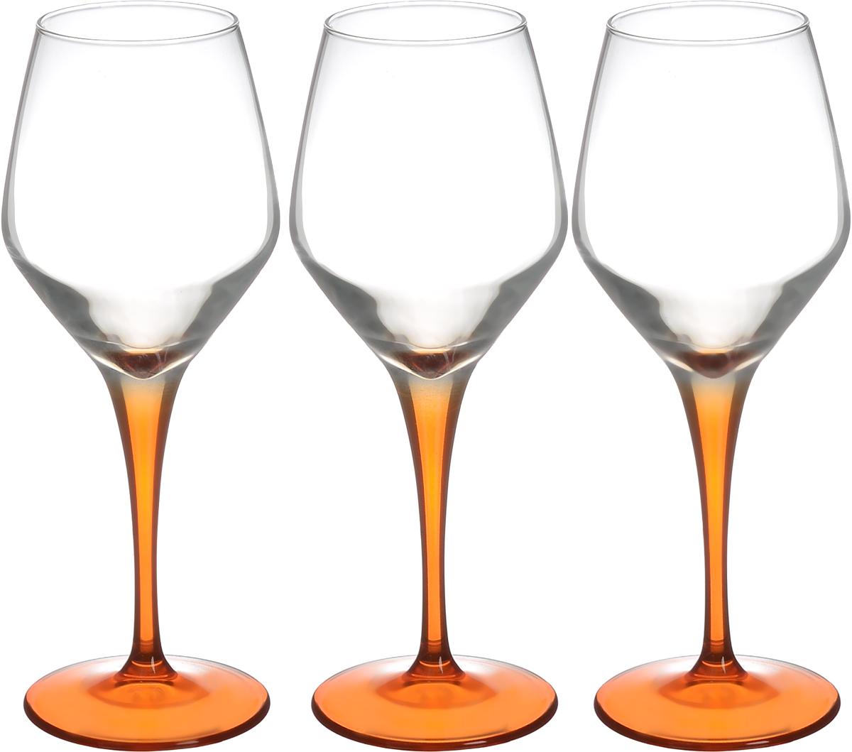 Набор фужеров Pasabahce Workshop Dream, цвет: прозрачный, оранжевый, 380 мл, 3 шт44581OR/Набор Pasabahce Workshop Dream, выполненный из стекла прозрачного и оранжевого цвета, состоит из 3 изящных фужеров на ножках, которые излучают приятный блеск и издают мелодичный хрустальный звон. Фужеры идеально подойдут для сервировки стола и станут отличным подарком к любому празднику. Диаметр (по верхнему краю): 6 см. Высота фужера: 22,5 см. Диаметр основания: 8 см.