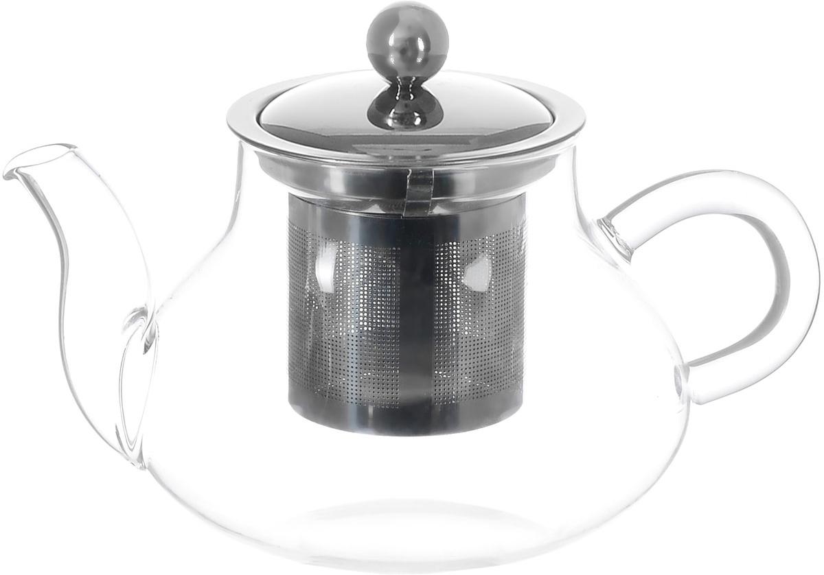 Чайник заварочный Hunan Provincial Годжи, 550 мл15020Заварочный чайник Hunan Provincial Годжи изготовлен из стекла. Пить чай из такого чайника сплошное удовольствие! Полностью прозрачная форма позволяет любоваться цветом своего любимого напитка. Устойчивая основа, широкий носик, удобная ручка - все выполнено идеально для достижения полного комфорта в использовании. Внутреннее сито выполнено из металла. После того, как чай заварился, колбу лучше всего достать из чайника, для того чтобы чайный лист не перезаваривался. Диаметр чайника (по верхнему краю): 7 см. Высота чайника (без учета крышки): 8,5 см. Высота чайника (с учетом крышки): 11 см. Высота фильтра: 6 см.