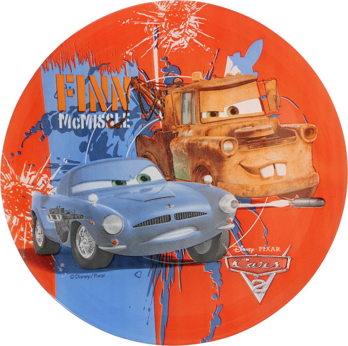 Тарелка десертная Luminarc Disney Cars 2, диаметр 19,5 смL2129Десертная тарелка Luminarc Disney Cars 2, изготовленная из ударопрочного стекла, имеет приятный внешний вид. Такая тарелка обязательно понравится вашему ребенку. Идеальна для подачи десертов, пирожных, тортов и многого другого. Она прекрасно оформит стол и станет отличным дополнением к вашей коллекции кухонной посуды. Диаметр тарелки (по верхнему краю): 19,5 см. Высота тарелки: 1,5 см.