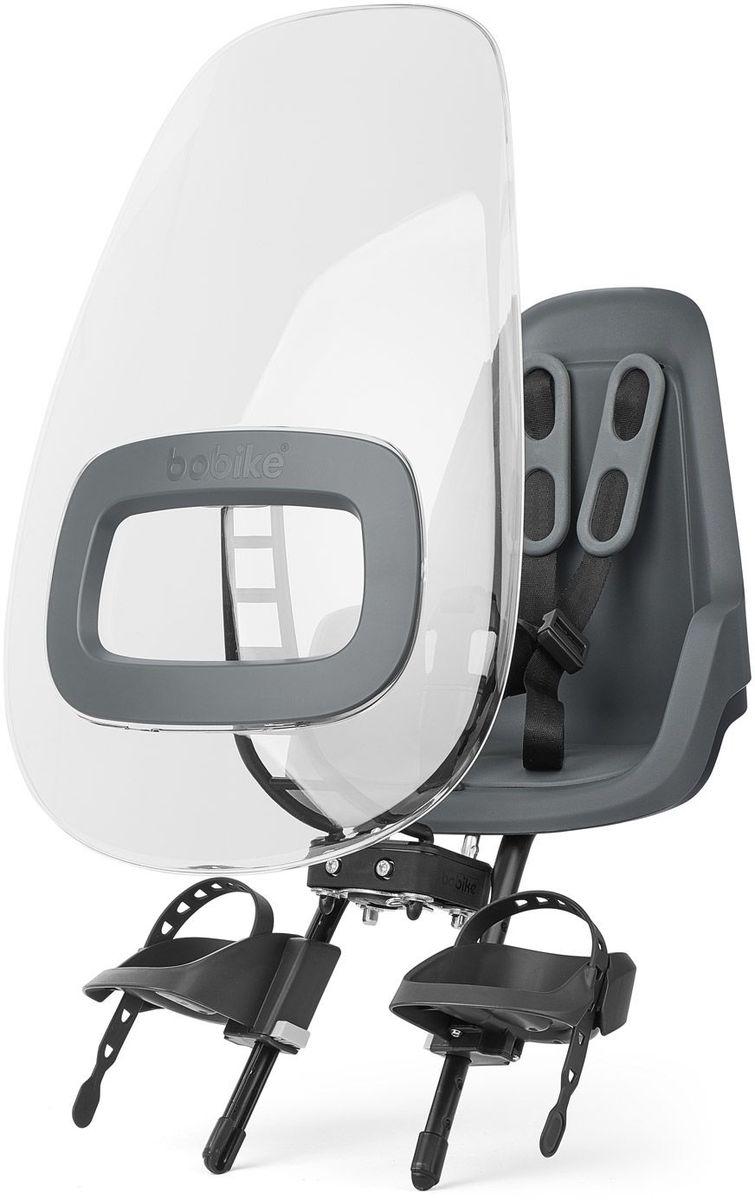Ветровое стекло для велокресел Bobike Windscreen One +, цвет: серый8015500003Ветровое стекло BOBIKE ONE+ сделано из крепкого, ударопрочного и полностью прозрачного пластика. Его привлекательный дизайн и цветовые акценты отлично сочетаются с Вашим велокреслом BOBIKE ONE Mini. Ветровое стекло регулируется по наклону и обеспечивает полную защиту ребёнка от ветра и дождя. Вы можете установить лобовое стекло прямо в крепёж велокресла. Система крепления Click & Go позволяет быстро и без инструментов установить и снять стекло, а так же переставить его между разными велокреслами. • Для велокресел BOBIKE • Ударопрочная конструкция • Система Click & Go • Регулируемый наклон стекла • Совместимо с велокреслами BOBIKE ONE Mini • Установка без инструментов • Голландский дизайн • Сделано в Европе