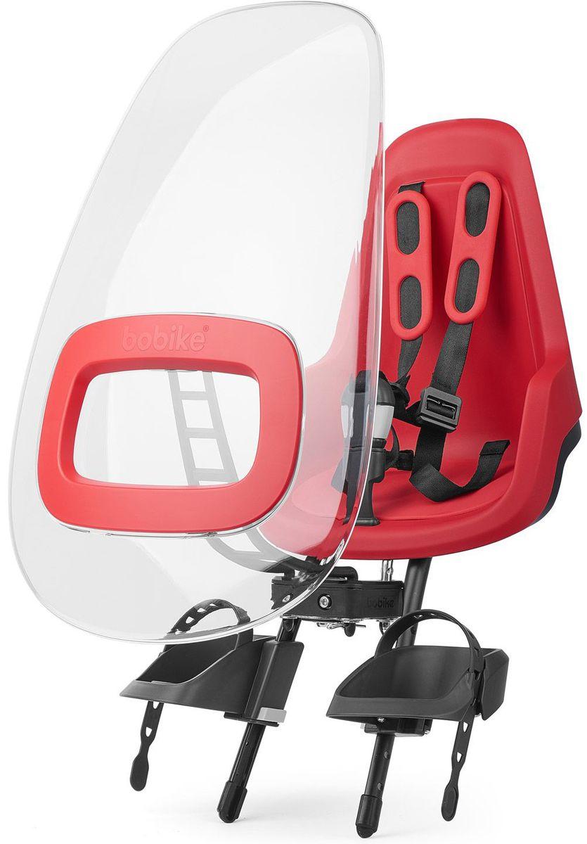 Ветровое стекло для велокресел Bobike Windscreen One +, цвет: красный8015500006Ветровое стекло BOBIKE ONE+ сделано из крепкого, ударопрочного и полностью прозрачного пластика. Его привлекательный дизайн и цветовые акценты отлично сочетаются с Вашим велокреслом BOBIKE ONE Mini. Ветровое стекло регулируется по наклону и обеспечивает полную защиту ребёнка от ветра и дождя. Вы можете установить лобовое стекло прямо в крепёж велокресла. Система крепления Click & Go позволяет быстро и без инструментов установить и снять стекло, а так же переставить его между разными велокреслами. • Для велокресел BOBIKE • Ударопрочная конструкция • Система Click & Go • Регулируемый наклон стекла • Совместимо с велокреслами BOBIKE ONE Mini • Установка без инструментов • Голландский дизайн • Сделано в Европе