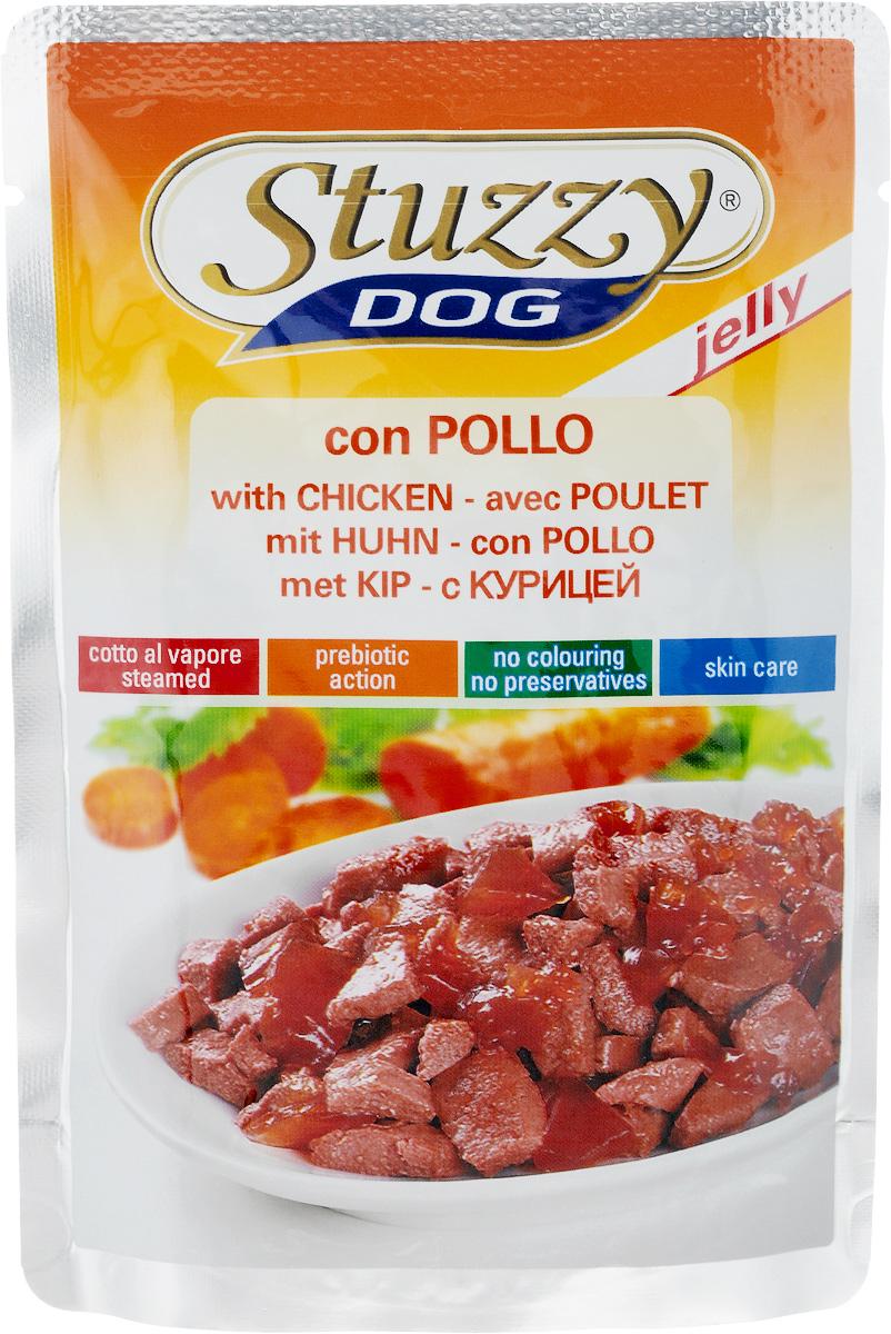 Консервы для собак Stuzzy Dog, с курицей в желе, 100 г131.С4251Консервы Stuzzy Dog - полнорационный продукт, который подходит для ежедневного кормления вашего животного. Это аппетитные консервы без усилителей вкуса, красителей и консервантов. Корм обогащен таурином и витамином Е для поддержания правильной работы сердца и иммунной системы. А также инулином, способствующим всасыванию питательных веществ, и биотином, делающим шерсть блестящей и шелковистой и поддерживающим здоровое состояние кожных покровов. Консервы имеют аппетитный вид, удивительный аромат и приятный вкус, который понравится питомцу! Товар сертифицирован.