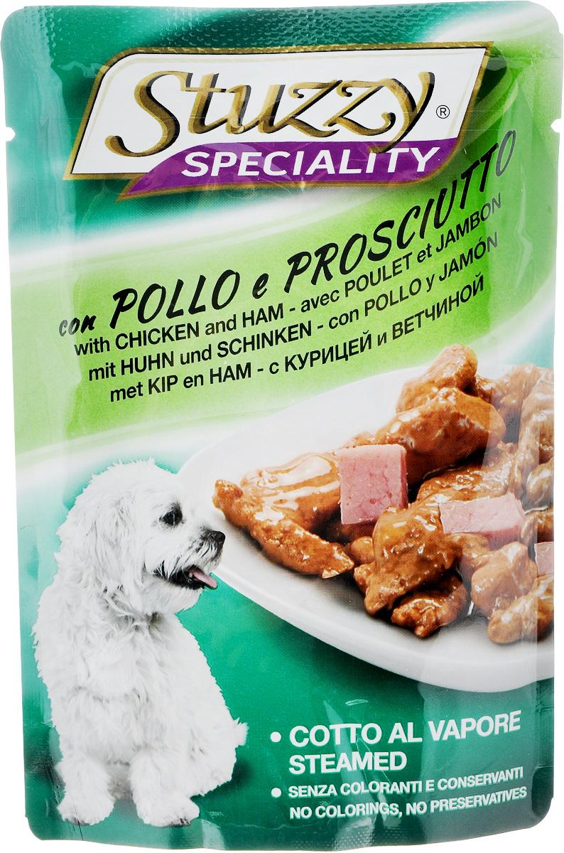 Консервы для собак Stuzzy Speciality, курица и ветчина, 100 г131.2573Stuzzy (Штуззи) это аппетитные вкусы без усилителей, красителей и консервантов. Корма обогащены таурином и витамином Е для поддержания правильной работы сердца и иммунной системы. А также инулином, способствующим всасыванию питательных веществ, и биотином, делающим шерсть блестящей и шелковистой и поддерживающим здоровое состояние кожных покровов.